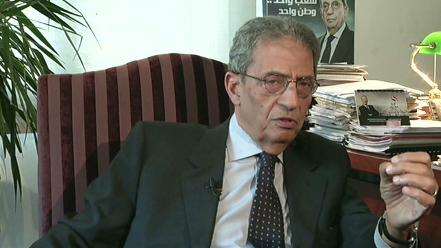 Presidential candidate Amre Moussa served as foreign minister under Hosni Mubarak and headed the Arab League.