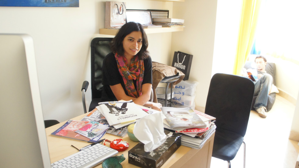 Rumman Company founder and general manager Maria Mahdaly in her Jeddah office.