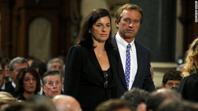 Robert F. Kennedy Jr. and his wife Mary arrive at funeral services for U.S. Sen. Edward Kennedy in August 2009.