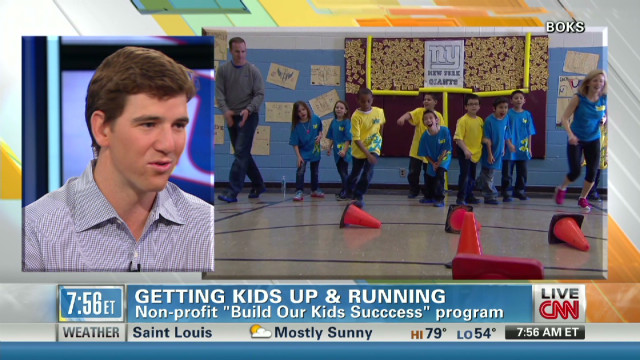 Manning on exercise, academics for kids
