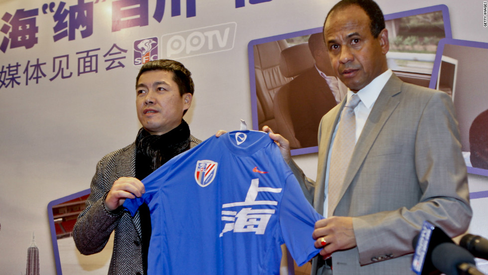 French Euro '84 winner Jean Tigana was unveiled as the new coach of Shanghai Shenhua in December 2011. But the former Fulham manager did not last long in the post, resigning from the position last month.
