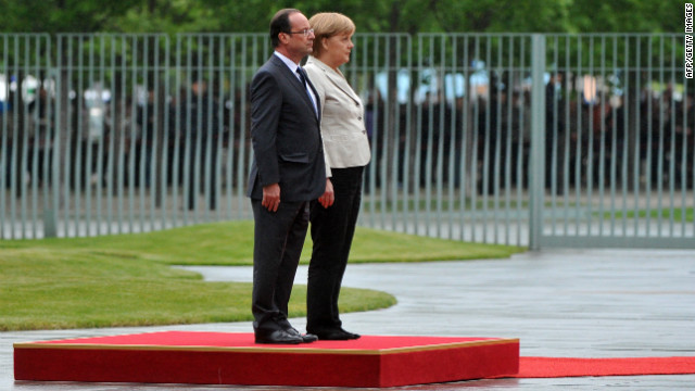 German Chancellor Angela Merkel and new French President Francois Hollande face huge challenges in the EU.