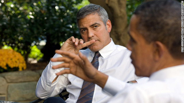 Barack Obama, here in 2010 with actor George Clooney, enjoyed wide support from Hollywood backers in his 2008 campaign.