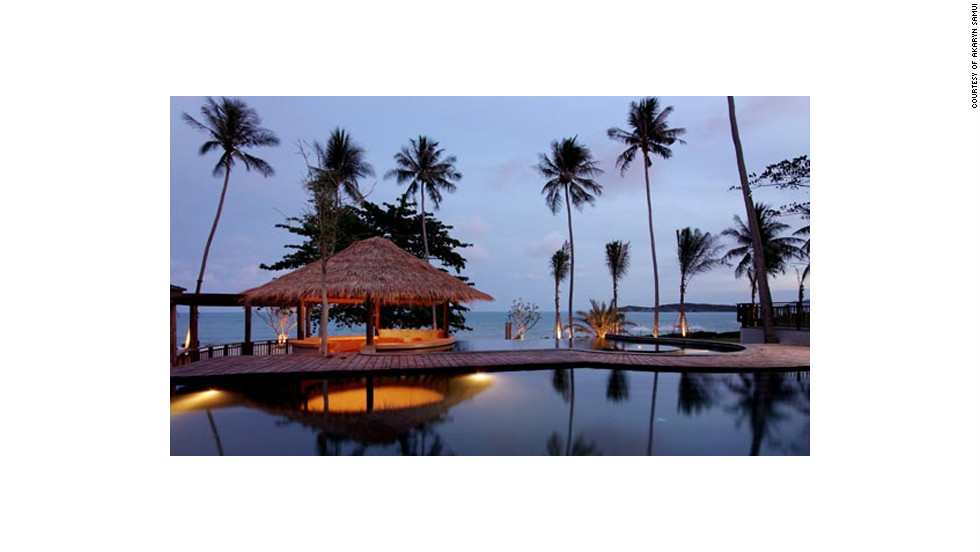 """Akaryn Samui's elegant villas in Koh Samui, Thailand, offer four-poster beds, private gardens, sunrise yoga and a tea salon. Travel + Leisure: <a href=""""http://www.travelandleisure.com/articles/best-affordable-beach-resorts/12"""" target=""""_blank"""">See more affordable beach resorts</a>"""