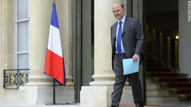 French Foreign Minister Pierre Moscovici pictured in Paris on May 17.