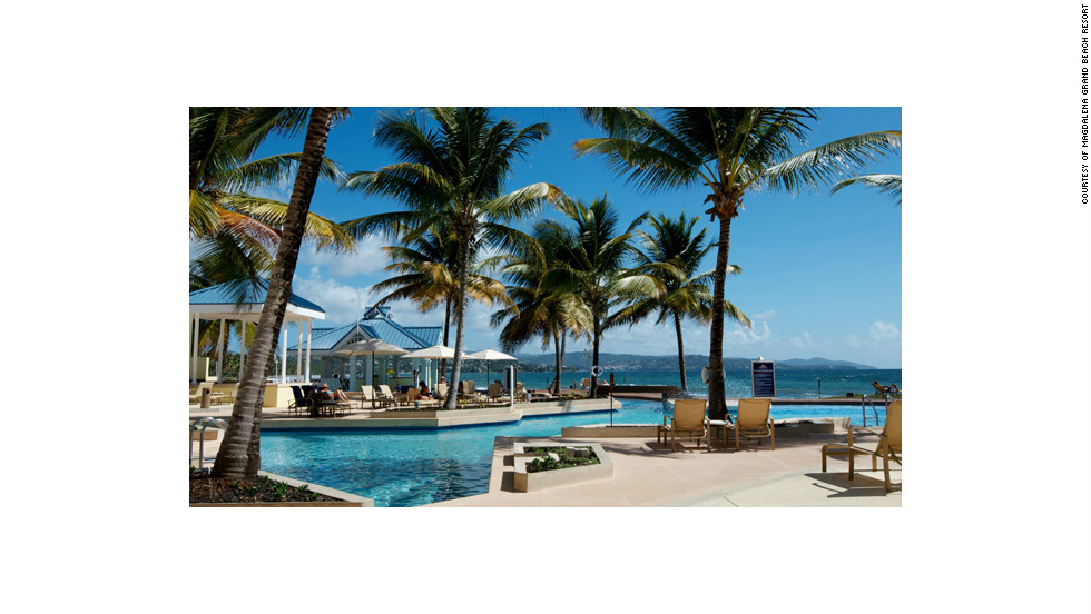 The Magdalena Grand Beach Resort in Tobago may be surrounded by a gated, luxury community of golf courses and vacation homes, but the nature trails and mangrove forests shelter guests' rooms.
