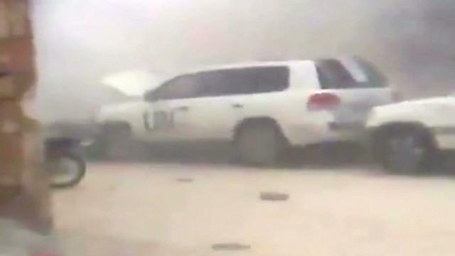 Video shows UN convoy bombed in Syria