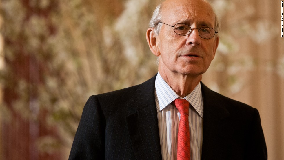 Justice Stephen G. Breyer was appointed to the court in 1994 by President Bill Clinton and is part of the court's liberal wing.