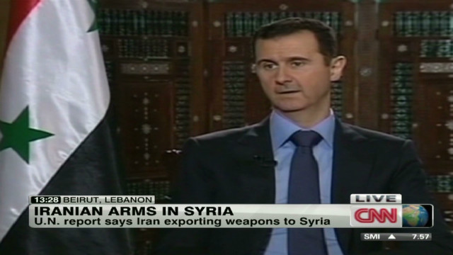 Iran accused of arming Syria