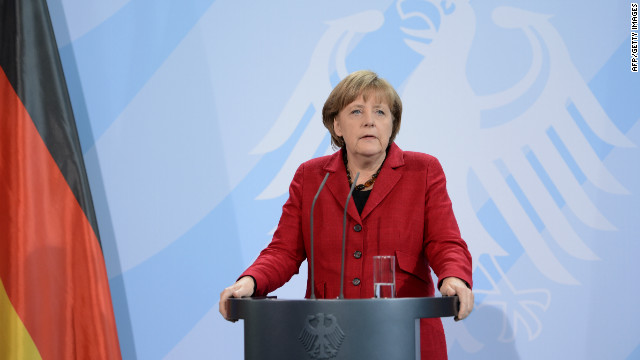 German Chancellor Angela Merkel called Greek President Karolos Papoulias on Friday morning.