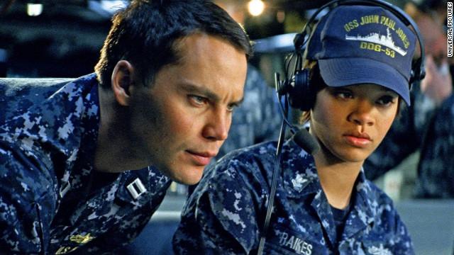 """Taylor Kitsch and Rihanna star in """"Battleship."""""""