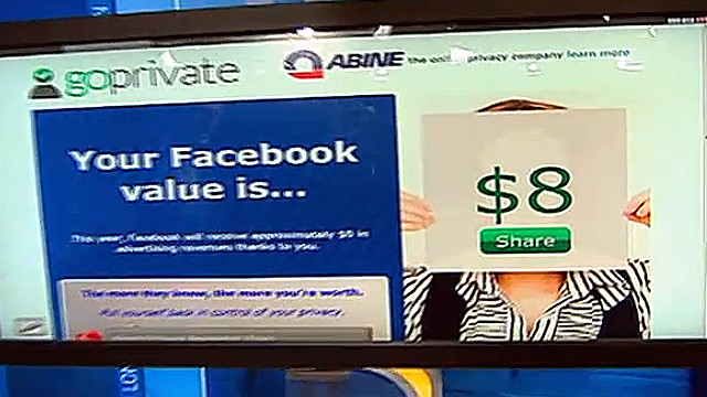 Richard Quest checks his value to Facebook using an online test