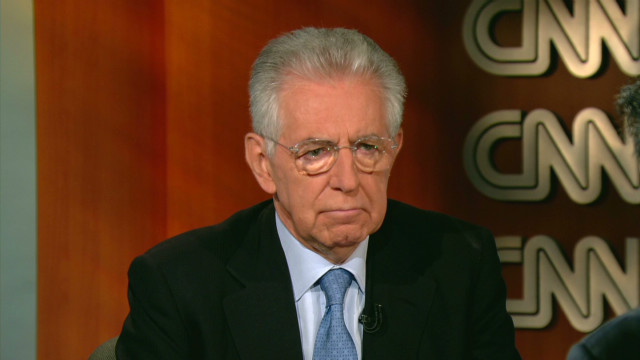 Mario Monti: 'Minds are focused'