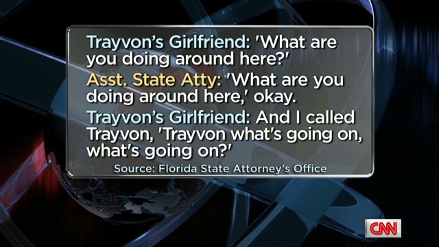 What Trayvon Martin's girlfriend heard