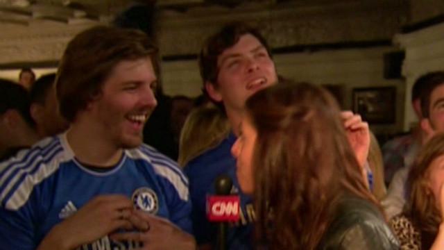 Fans celebrate Chelsea win