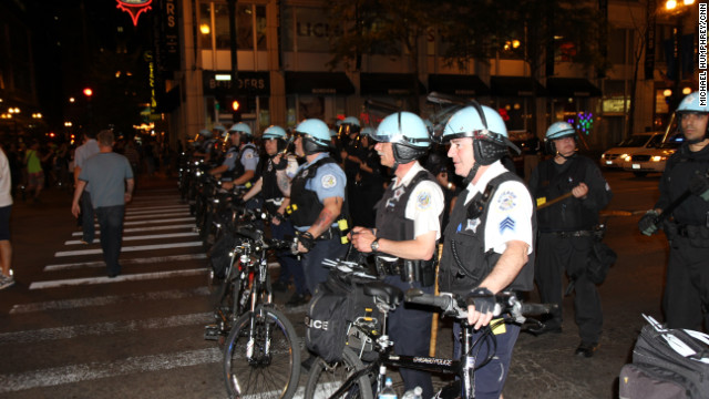 There is heightened security for the upcoming NATO summit in Chicago, Illinois. Officials estimated over 500 demonstrators came out to protest on Saturday.