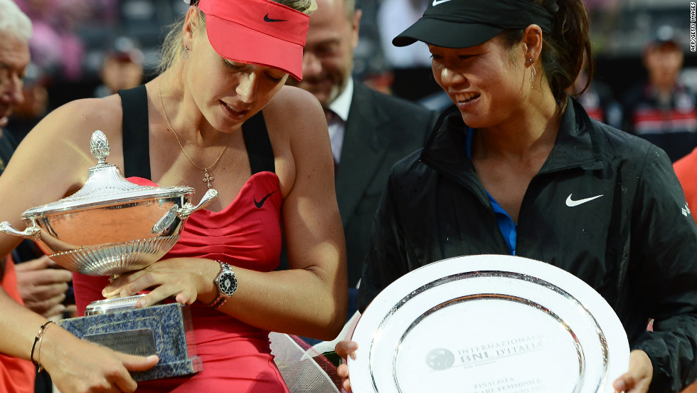 Li's 2011 French Open win made her one of the richest sportswomen in the world -- second only to tennis rival Maria Sharapova, left.