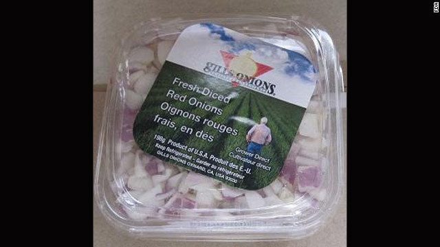 A voluntary recall was initiated after a routine and random test directed by the Canadian Food Inspection Agency, Gills Onions said.