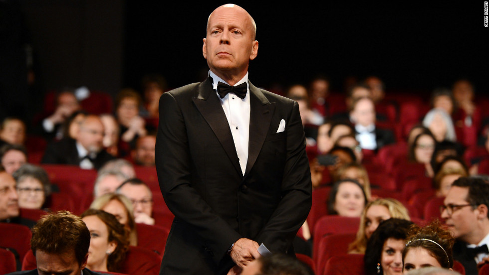 Bruce Willis attends the opening ceremony on Wednesday. The actor is a Cannes jury member.
