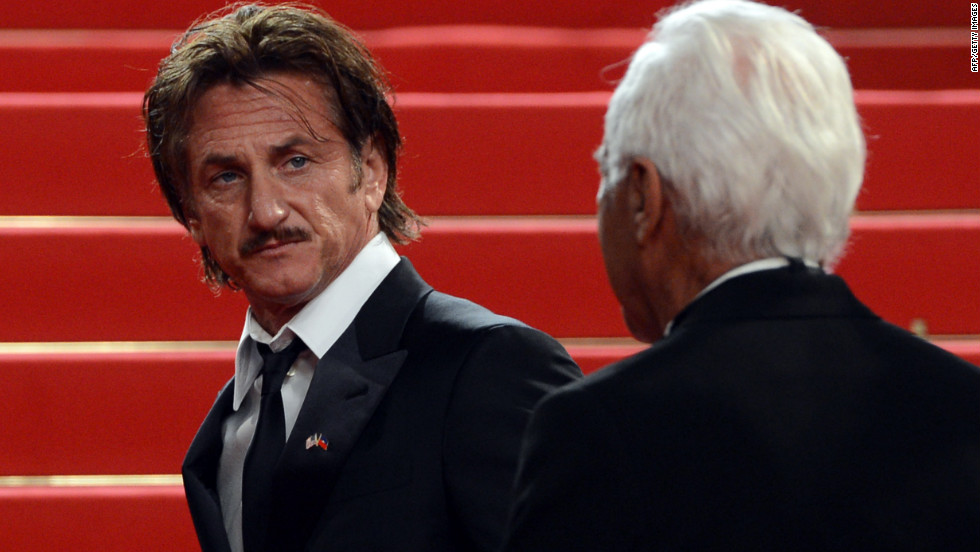 "Sean Penn arrives for the screening of ""Reality"" on Friday, May 18. The Italian film was directed by Matteo Garrone."