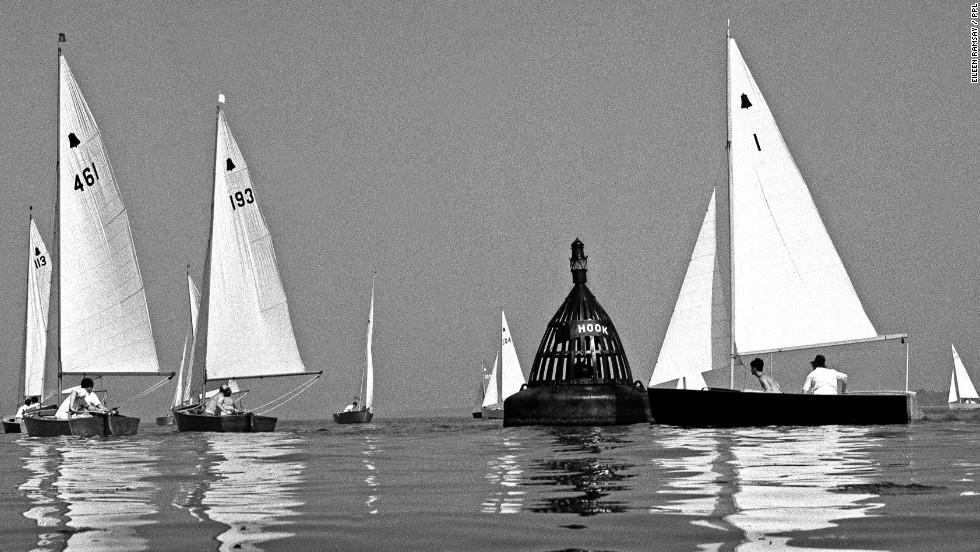 Eileen Ramsay pioneered the water-level photography angle - shooting images of sail boats from as close to the water as possible.