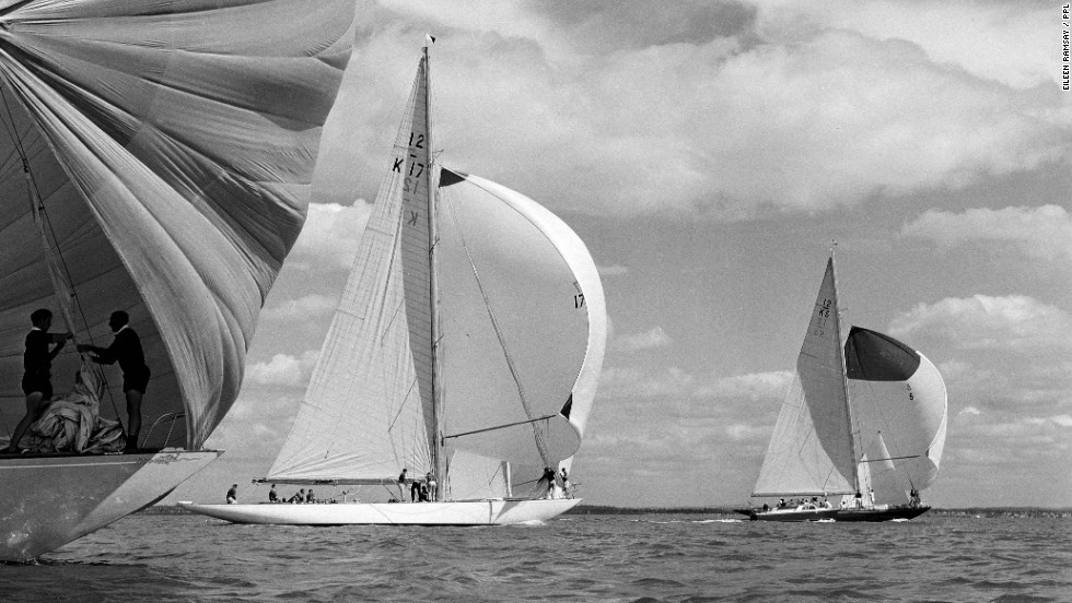 "According to Ramsay, a real photographer doesn't just takes a photograph, they ""make"" one  by working hard to get the best angle. This beautifully-composed image was shot at the 1962 Cowes Week Regatta."