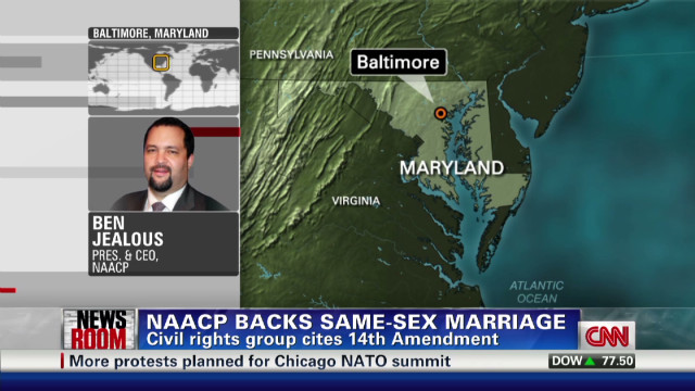 2012: NAACP endorses marriage equality