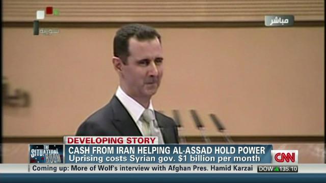 Iran cash helping al-Assad hold power
