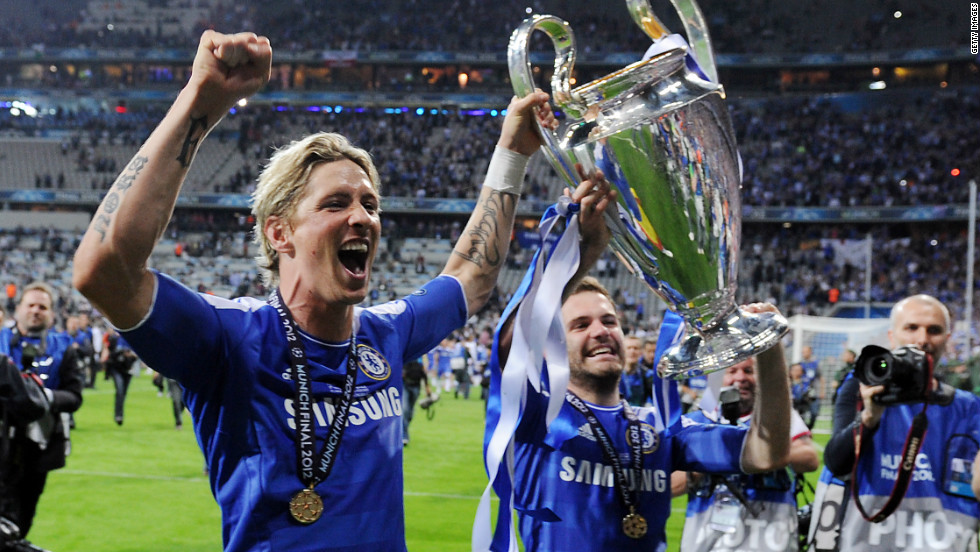 But the Spaniard was all smiles after the match, having come on as a substitute before Chelsea sealed a dramatic penalty shootout victory. It was the first time Chelsea had won European club football's biggest prize.