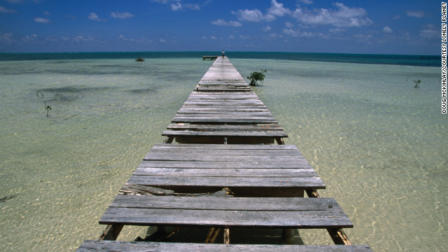 Ambergris Caye in Belize is home to the world's second-largest barrier reef after Australia's.