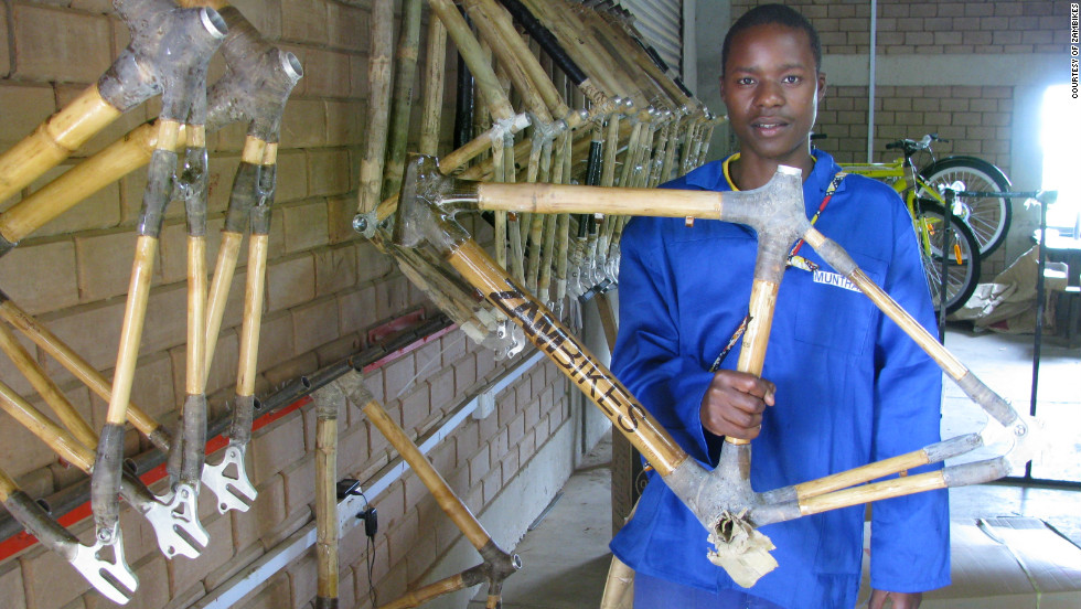 Zambikes, which began operations in 2007, has so far produced about 500 bamboo frames, but this year alone it expects to crank out another 450.