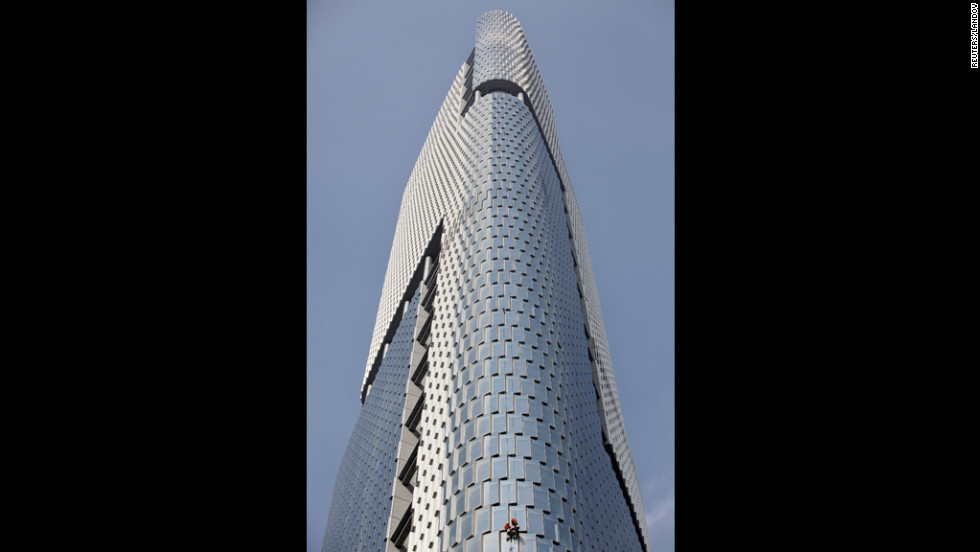 Completed in 2010, the Zifeng Tower in Nanjing has an architectural height of 1,476 feet (450 meters) and is occupied to a height of 1,039 feet (316.6 meters).