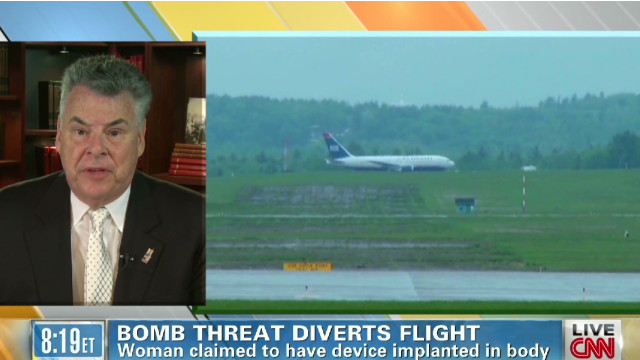 Rep. King talks U.S. Airways bomb scare