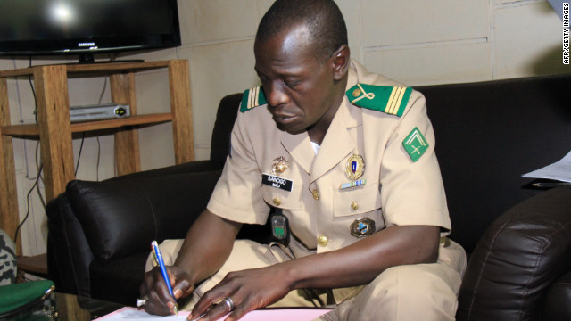 A file photo shows Capt. Amadou Sanogo. Supporters want him to lead Mali's interim government.