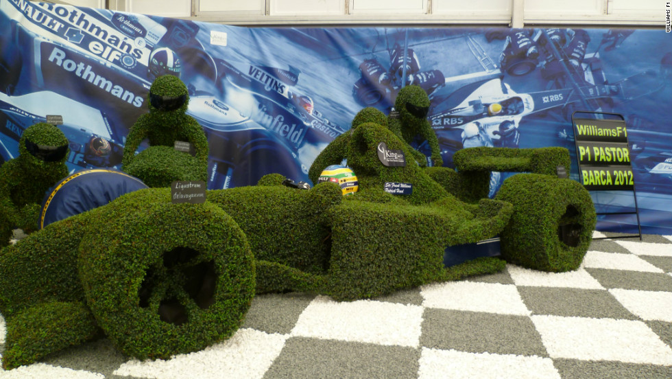 "Williams F1 teamed up with the King and Co. tree nursery to produce ""The Williams Story"" -- a display depicting the history of the nine-time constructors' champions."