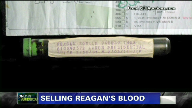 Selling Reagan's blood