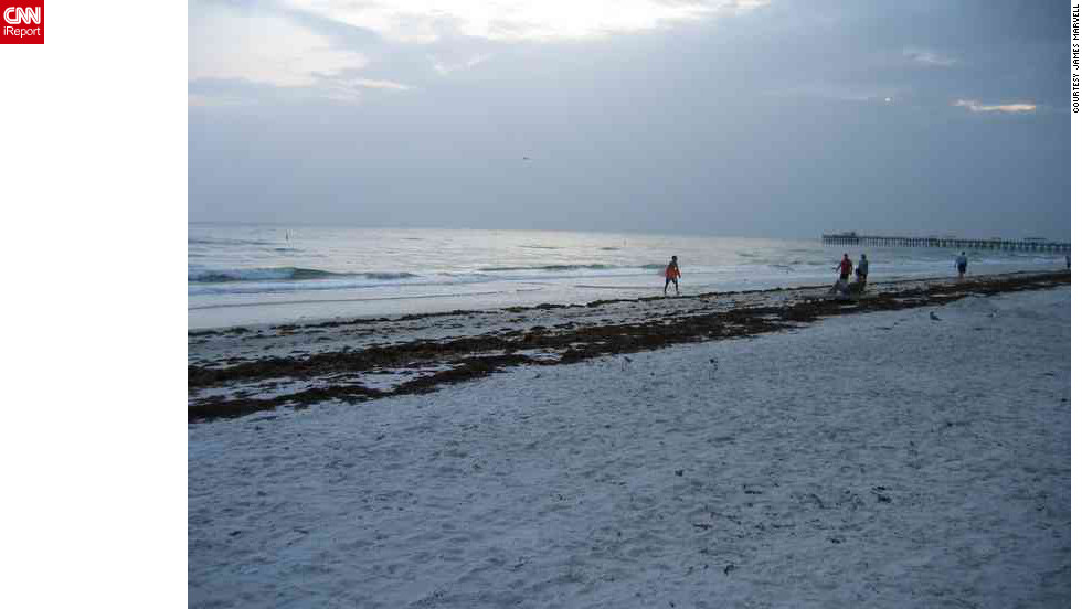 "Clearwater Beach is just one of the many famed beaches surrounding Tampa. ""My wife, Faye, and I go to for relaxation, a dip and a stop at <a href=""http://frenchysonline.com/"" target=""_blank"">Frenchy's on Clearwater</a> for a tropical salad,"" says James Marvell, who shot this photo."