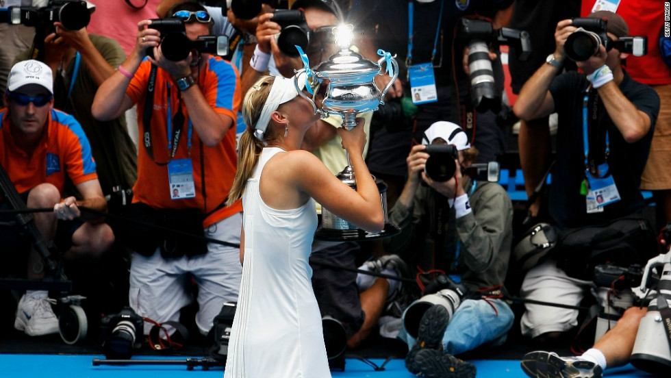 The 25-year-old made it a hat-trick of grand slam victories at the 2008 Australian Open and in some style. She didn't drop a set in the entire tournament on her way to defeating Serbia's Ana Ivanovic in the final.