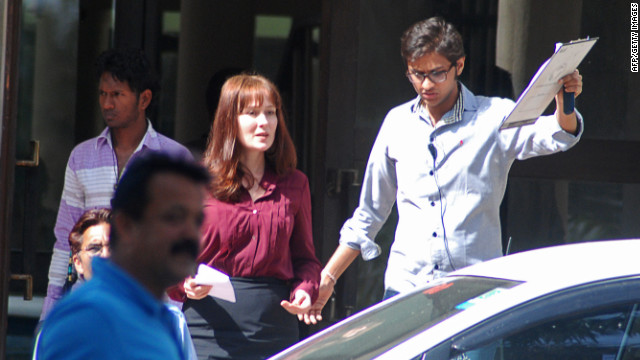 Actress Jennifer Ehle is seen on the Chandigarh, India, set of Kathryn Bigelow's forthcoming film on Osama bin Laden.