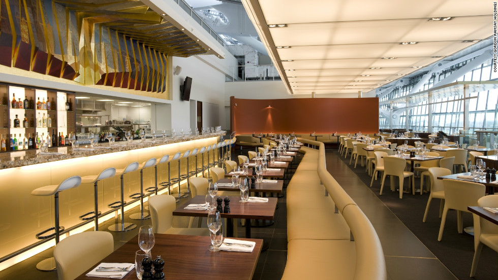 Celebrity chef Gordon Ramsay brings his successful formula to London Heathrow Airport with Plane Food, his stylish restaurant in Terminal five.