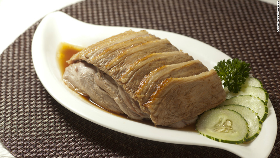 Sliced goose in marinade, a signature dish at Hung's Delicacies. The two Hung's Delicacies restaurants have drawn a cult following for their distinctive marinade-braised dishes.