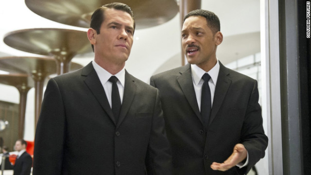 "Josh Brolin (left) and Will Smith star in ""Men in Black 3."""