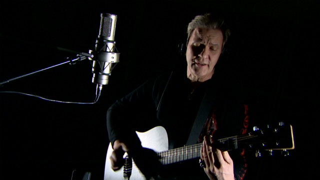 Johnny Logan plays his Eurovision winning song