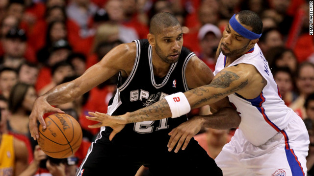 Tim Duncan, left, and the San Antonio Spurs have quietly beat down their first two playoff opponents, but who cares, right?