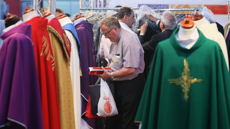 Vestments for all occasions as well as camouflage ones for military priests working in war zones. Poland has around 2,500 troops in Afghanistan.