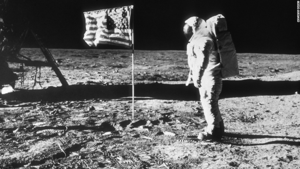 Armstrong and Aldrin spent roughly two hours on the moon's surface. The photos of the moonwalk were taken by Armstrong.
