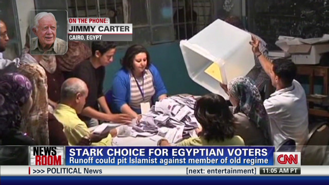 Jimmy Carter observes Egyptian vote