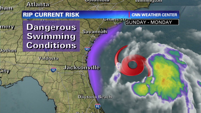Beryl's dangerous rip currents a risk