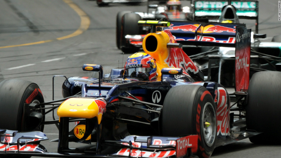 Mark Webber led the way from pole on the way to his eventual victory at the Monaco Grand Prix -- his first win of the season.