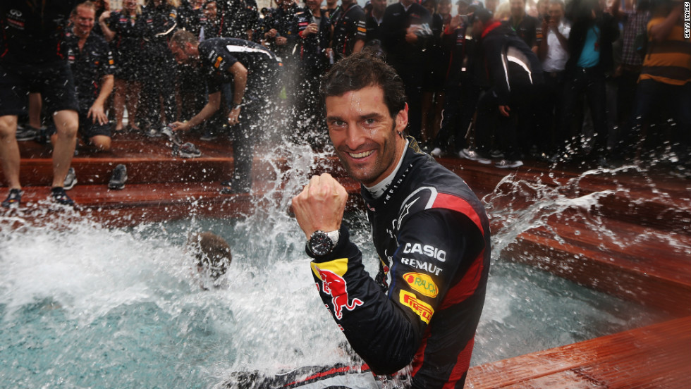 Mark Webber earned Red Bull's second victory of 2012 when he won F1's marquee race in Monaco in May.